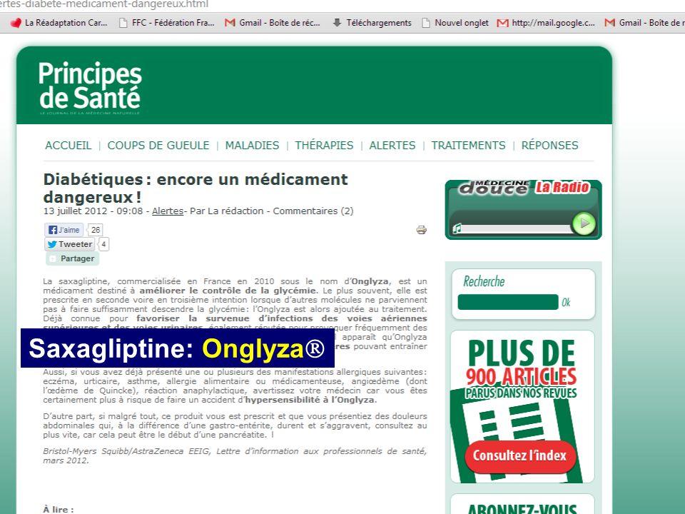 Saxagliptine: Onglyza