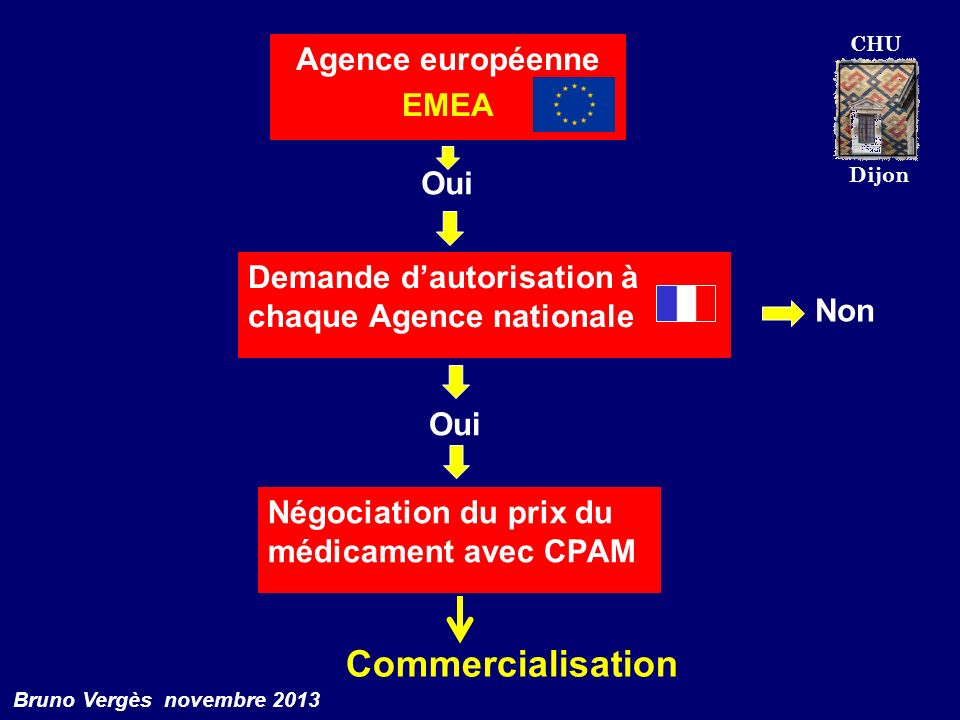Commercialisation Agence européenne EMEA Oui