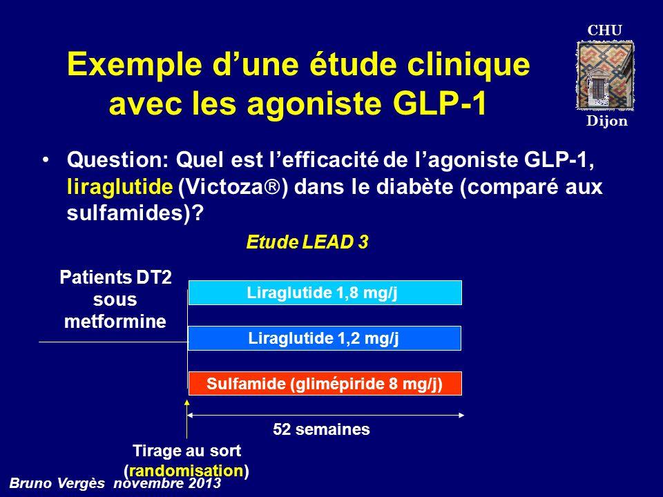 Exemple d'une étude clinique avec les agoniste GLP-1