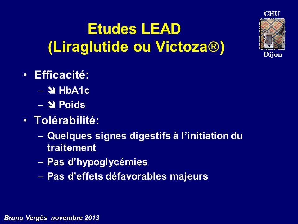 Etudes LEAD (Liraglutide ou Victoza)