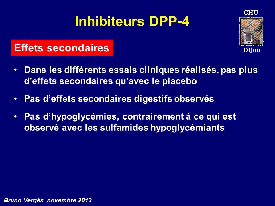 Inhibiteurs DPP-4 Effets secondaires