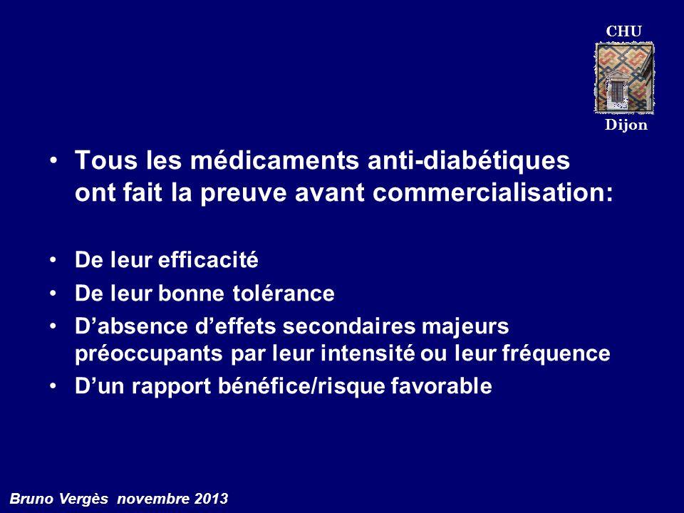 Tous les médicaments anti-diabétiques ont fait la preuve avant commercialisation:
