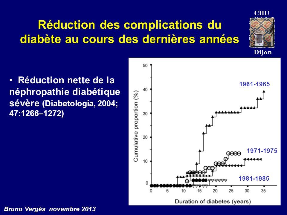 Réduction des complications du diabète au cours des dernières années