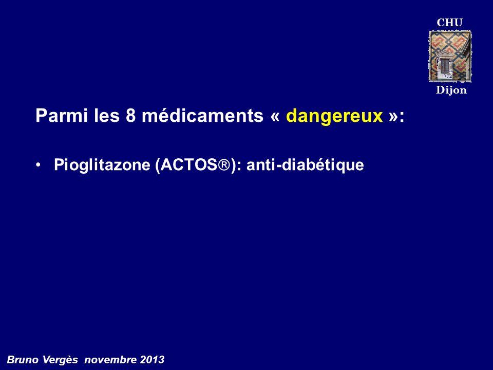 Parmi les 8 médicaments « dangereux »: