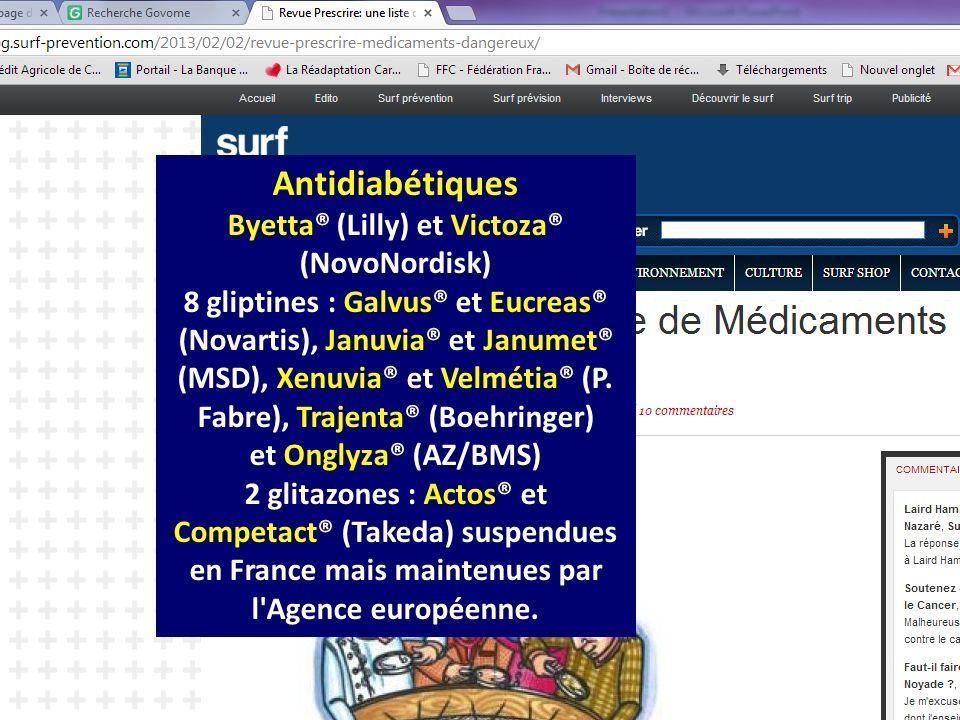 Byetta® (Lilly) et Victoza® (NovoNordisk)