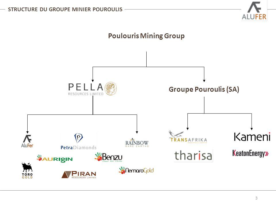 Structure du groupe minier Pouroulis