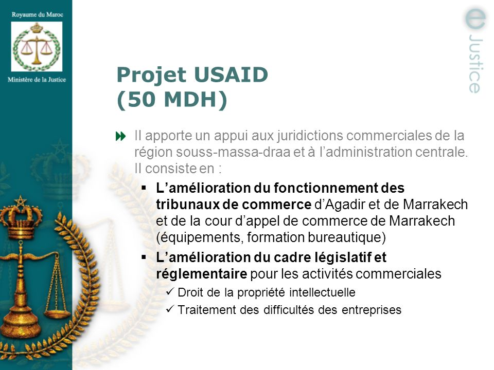 Projet USAID (50 MDH)