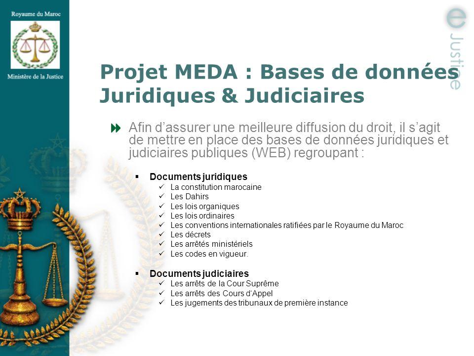 Projet MEDA : Bases de données Juridiques & Judiciaires