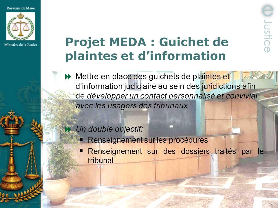 Projet MEDA : Guichet de plaintes et d'information