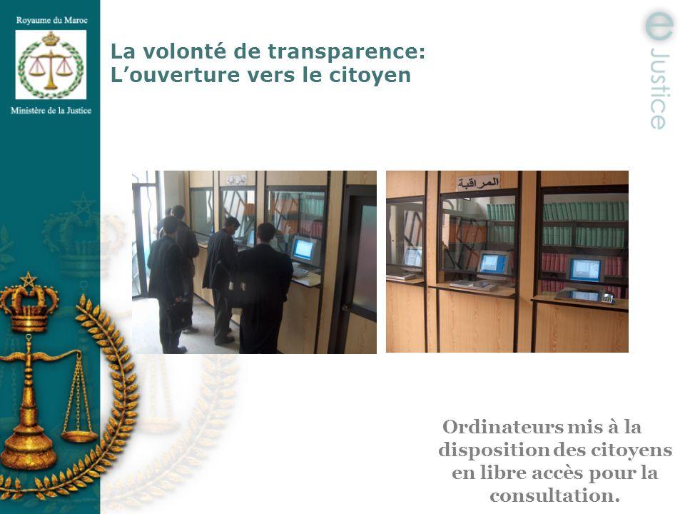 La volonté de transparence: L'ouverture vers le citoyen