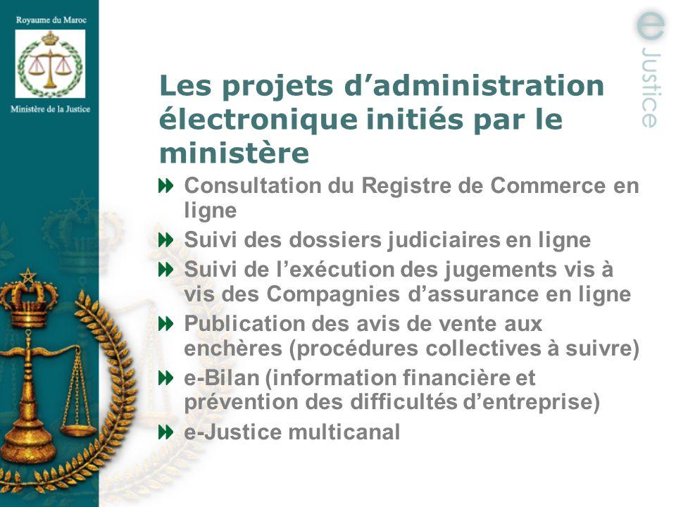 Les projets d'administration électronique initiés par le ministère