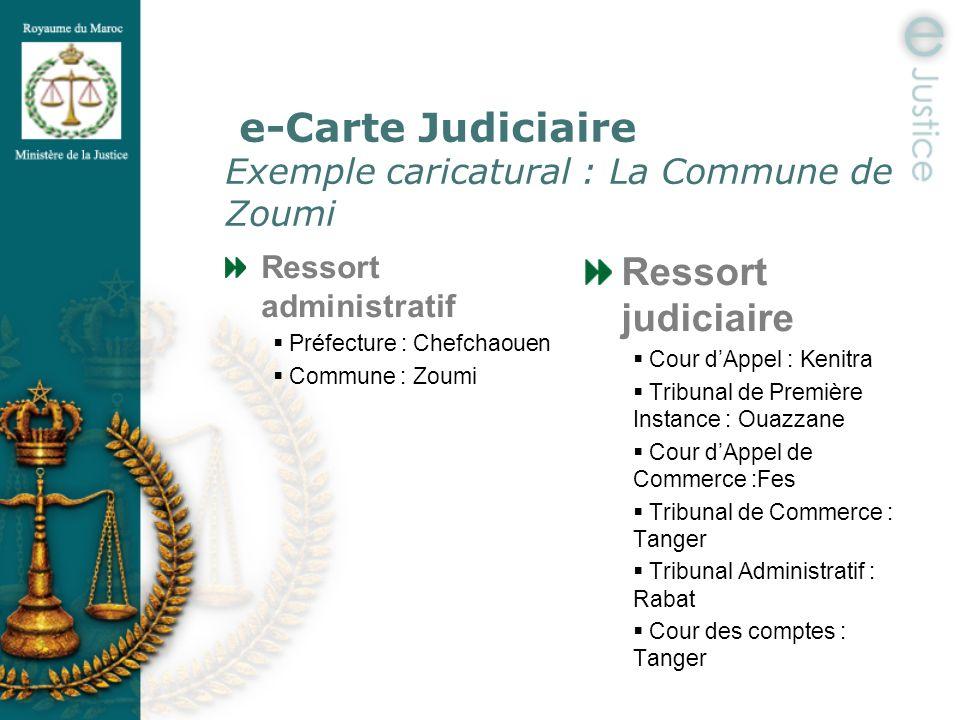 e-Carte Judiciaire Exemple caricatural : La Commune de Zoumi