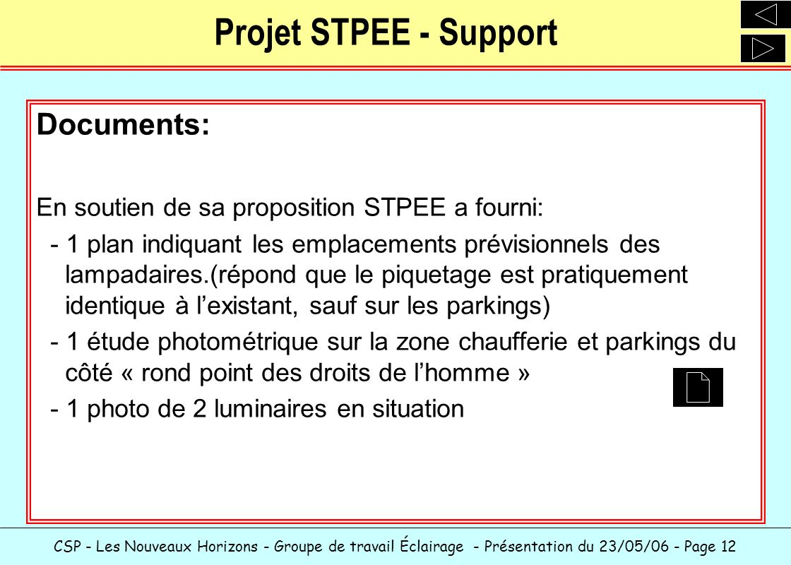 Projet STPEE - Support Documents: