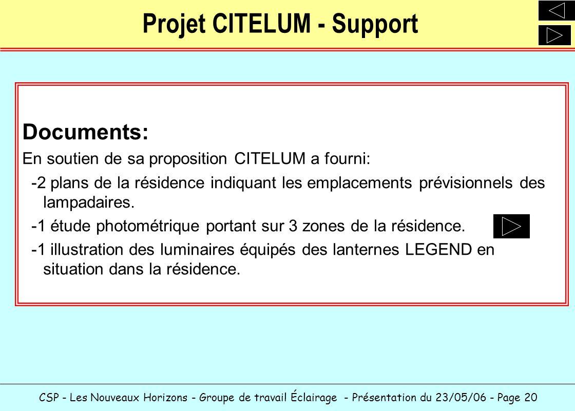 Projet CITELUM - Support