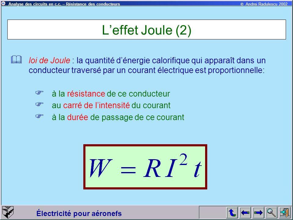 L'effet Joule (2)