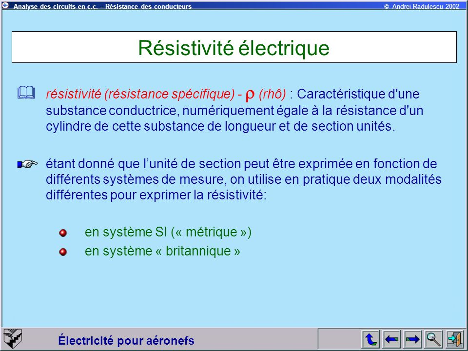 Résistivité électrique