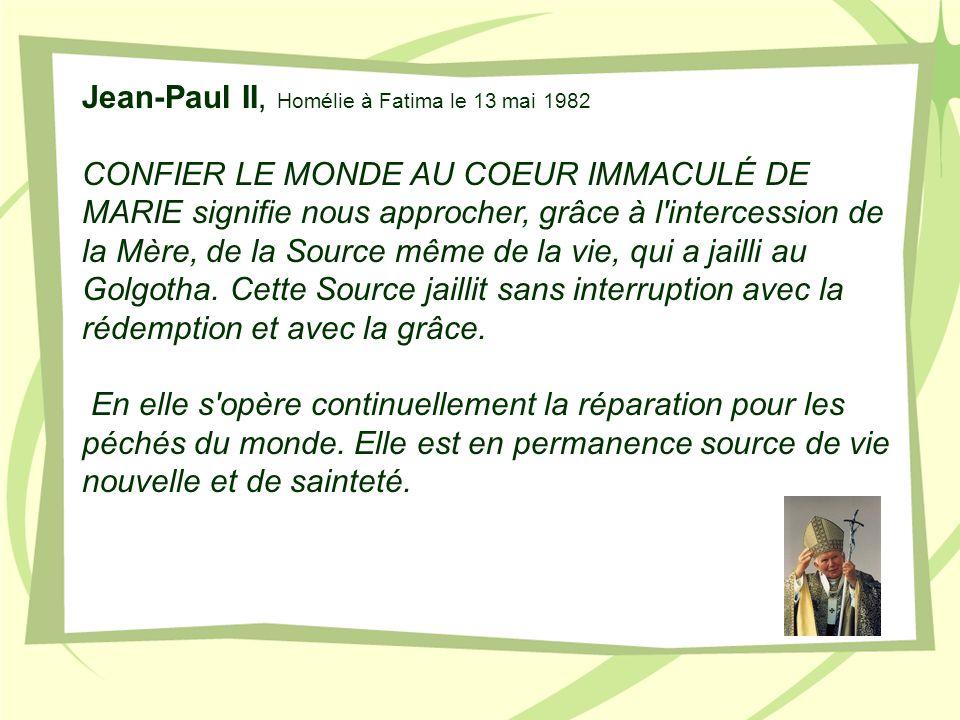 Jean-Paul II, Homélie à Fatima le 13 mai 1982