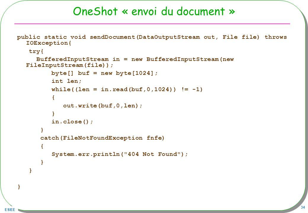 OneShot « envoi du document »