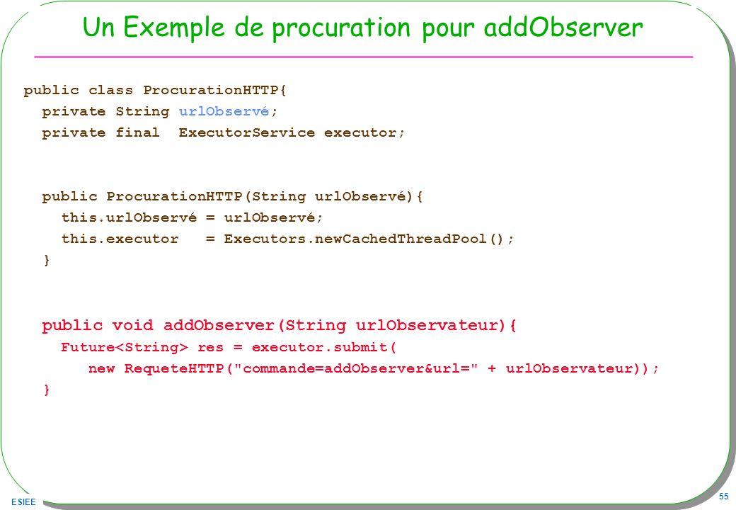 Un Exemple de procuration pour addObserver