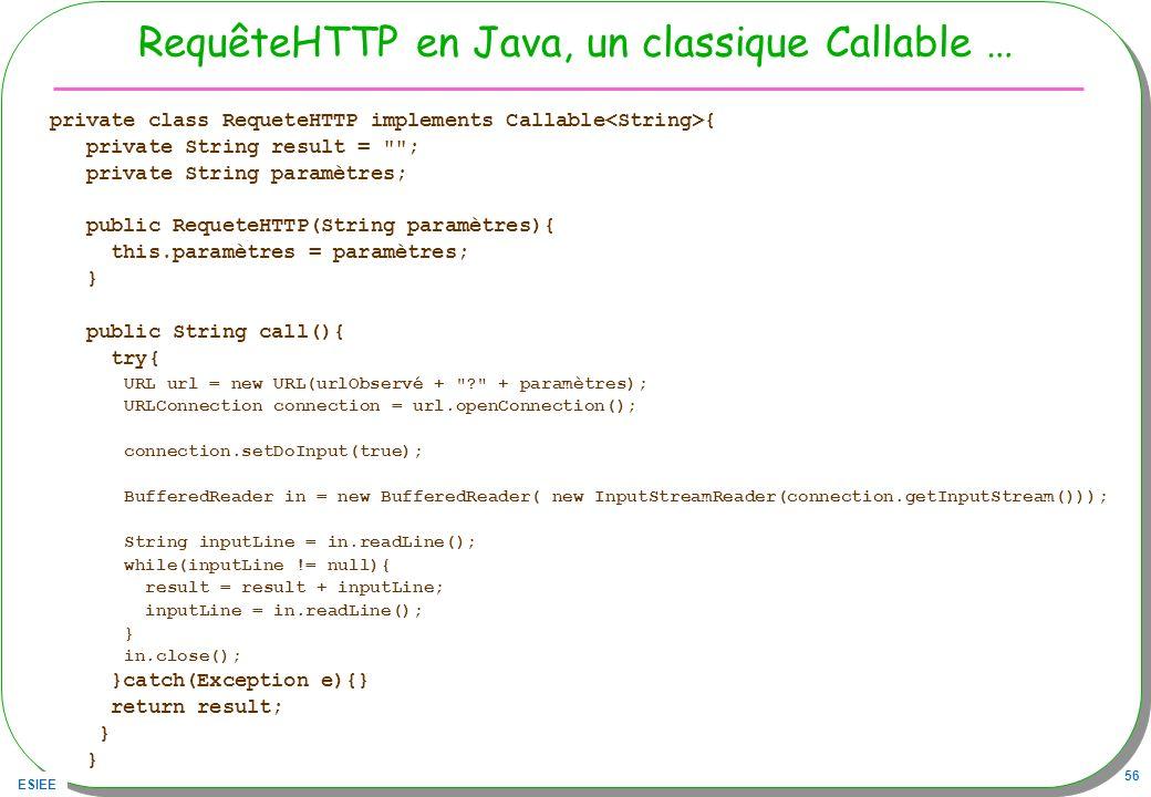 RequêteHTTP en Java, un classique Callable …