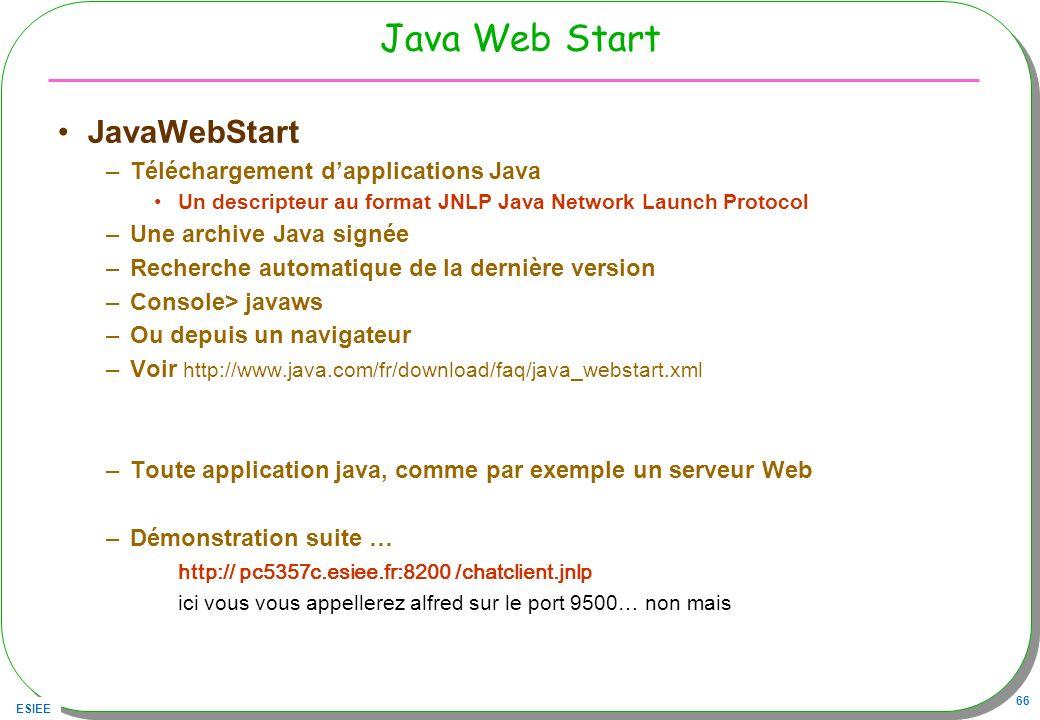 Java Web Start JavaWebStart Téléchargement d'applications Java
