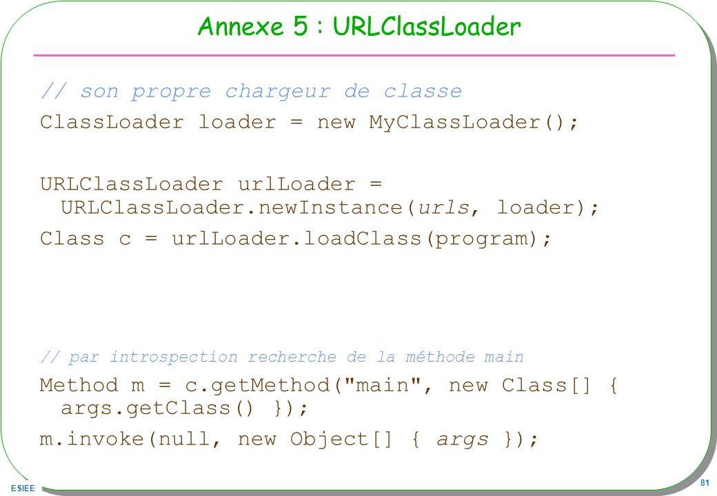 Annexe 5 : URLClassLoader