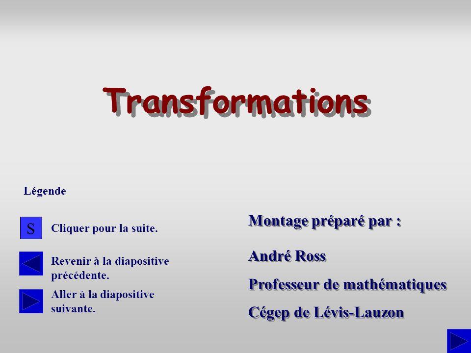Transformations Montage préparé par : S André Ross