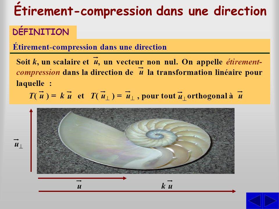 Étirement-compression dans une direction