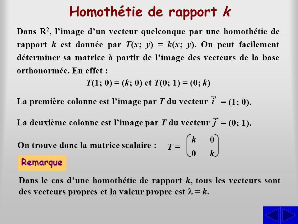 Homothétie de rapport k