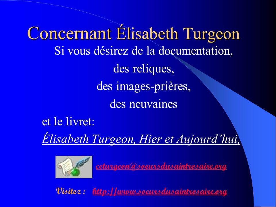 Concernant Élisabeth Turgeon