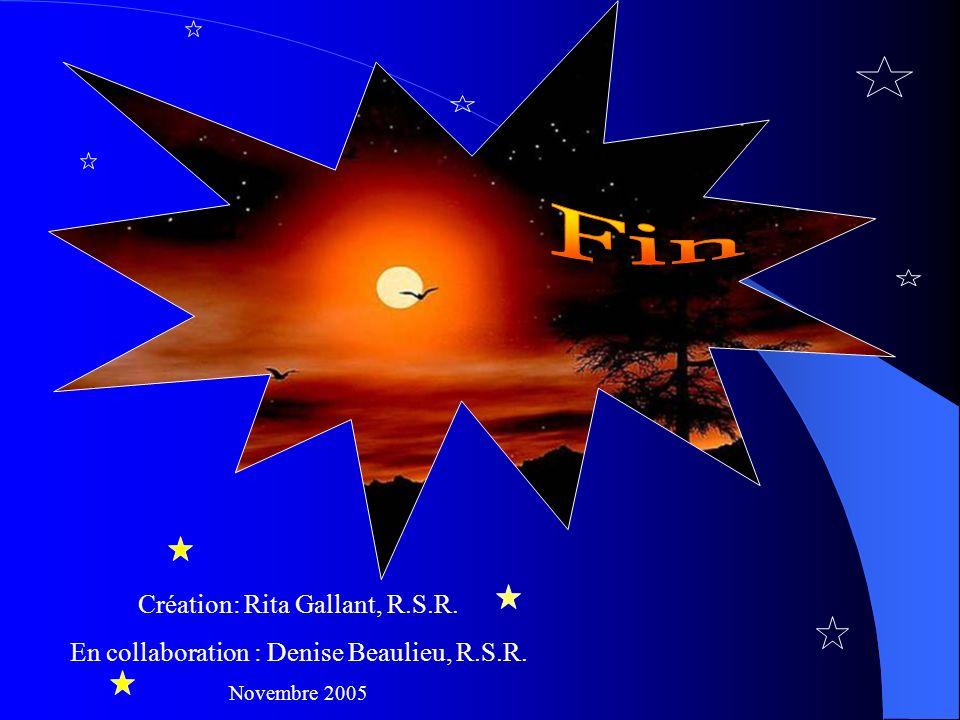 Fin Création: Rita Gallant, R.S.R.