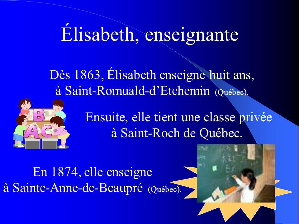 Élisabeth, enseignante