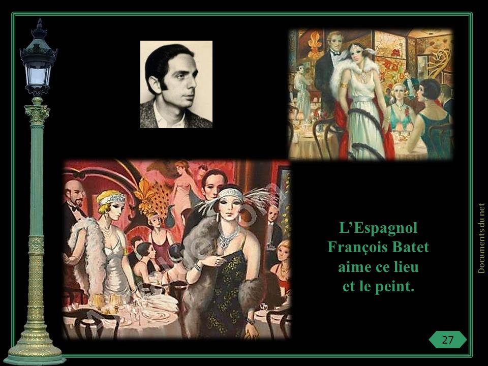 L'Espagnol François Batet aime ce lieu et le peint.