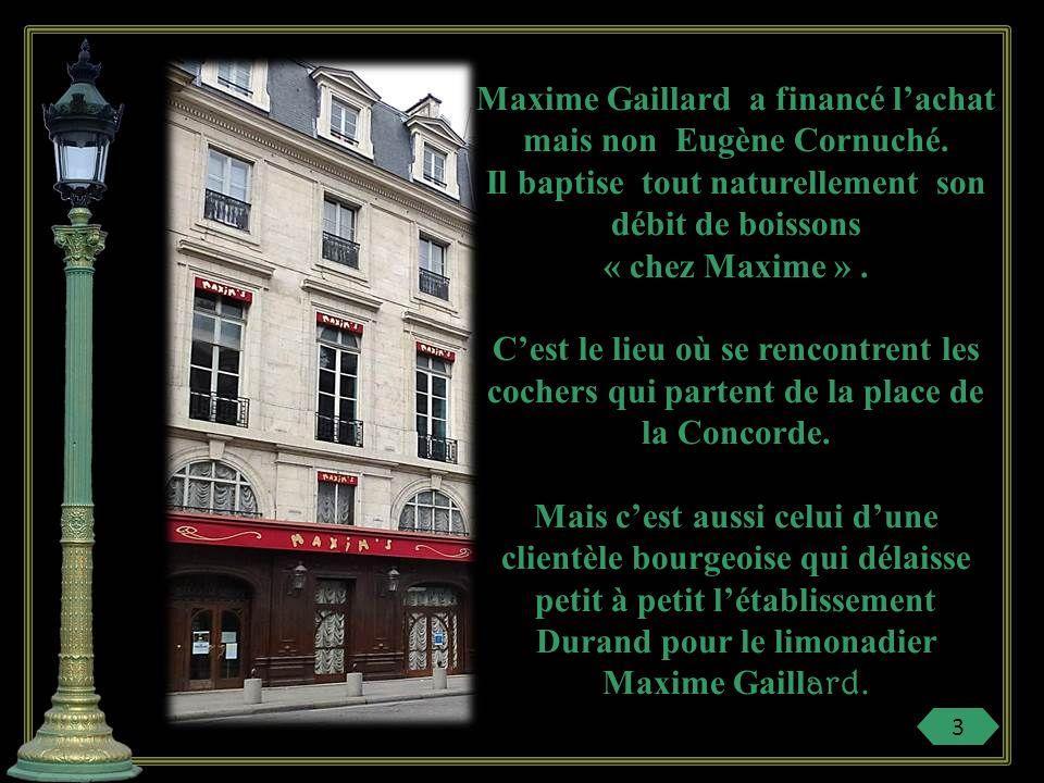 Maxime Gaillard a financé l'achat mais non Eugène Cornuché.