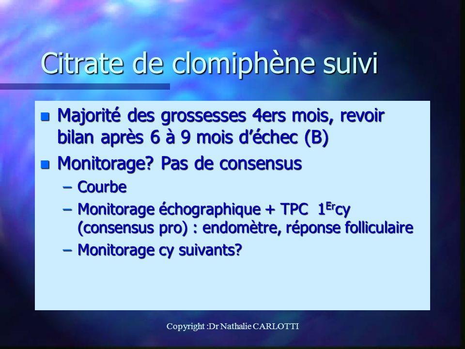 Citrate de clomiphène suivi