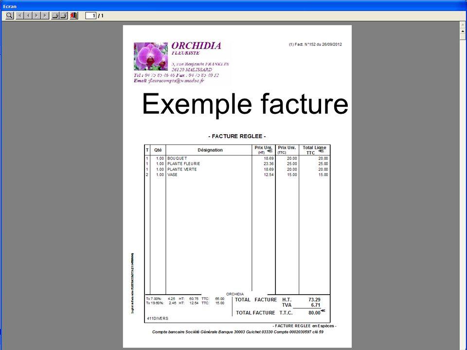 exemple facture fleuriste