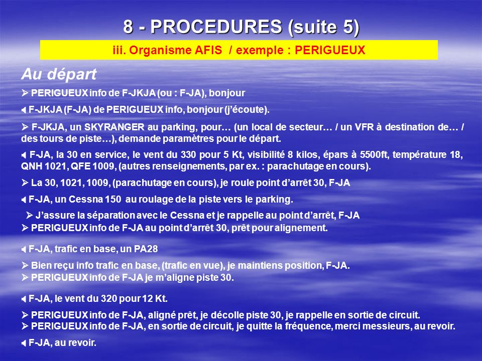 iii. Organisme AFIS / exemple : PERIGUEUX