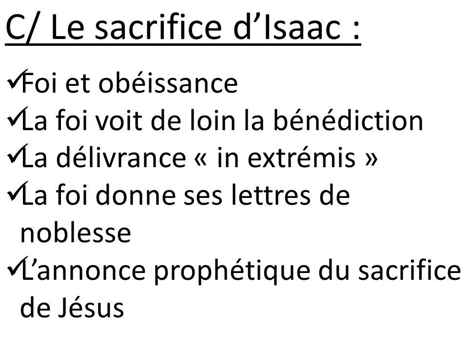 C/ Le sacrifice d'Isaac :