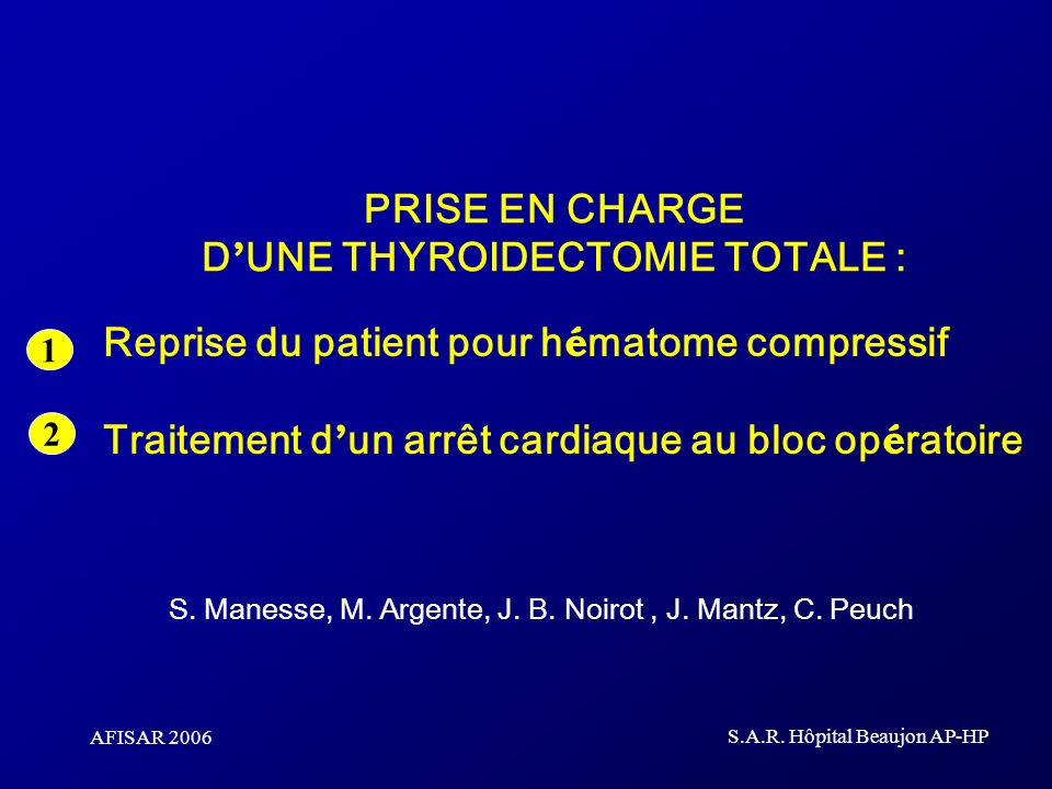 S. Manesse, M. Argente, J. B. Noirot , J. Mantz, C. Peuch