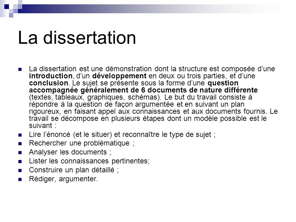 Dissertation Explicative Exemple