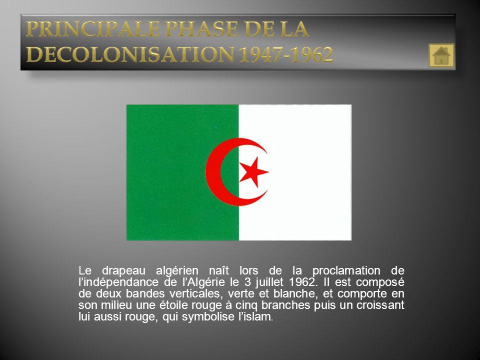 PRINCIPALE PHASE DE LA DECOLONISATION 1947-1962