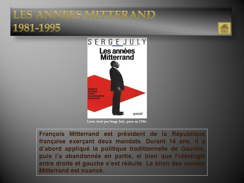 Livre, écrit par Serge July, paru en 1986.