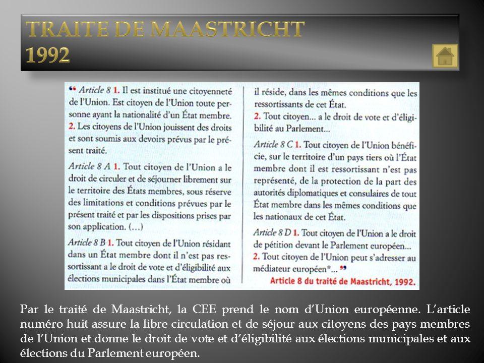 TRAITE DE MAASTRICHT 1992.
