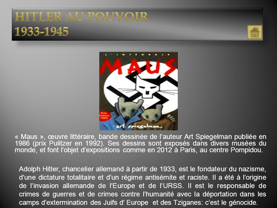 HITLER AU POUVOIR 1933-1945.
