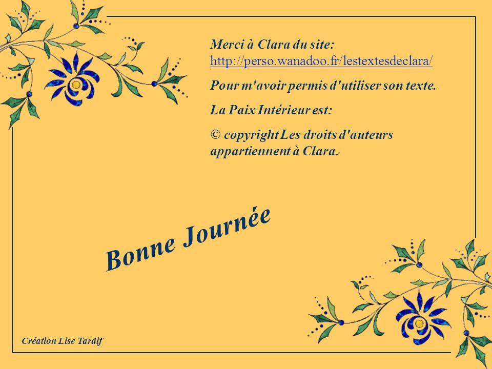 Merci à Clara du site: http://perso.wanadoo.fr/lestextesdeclara/