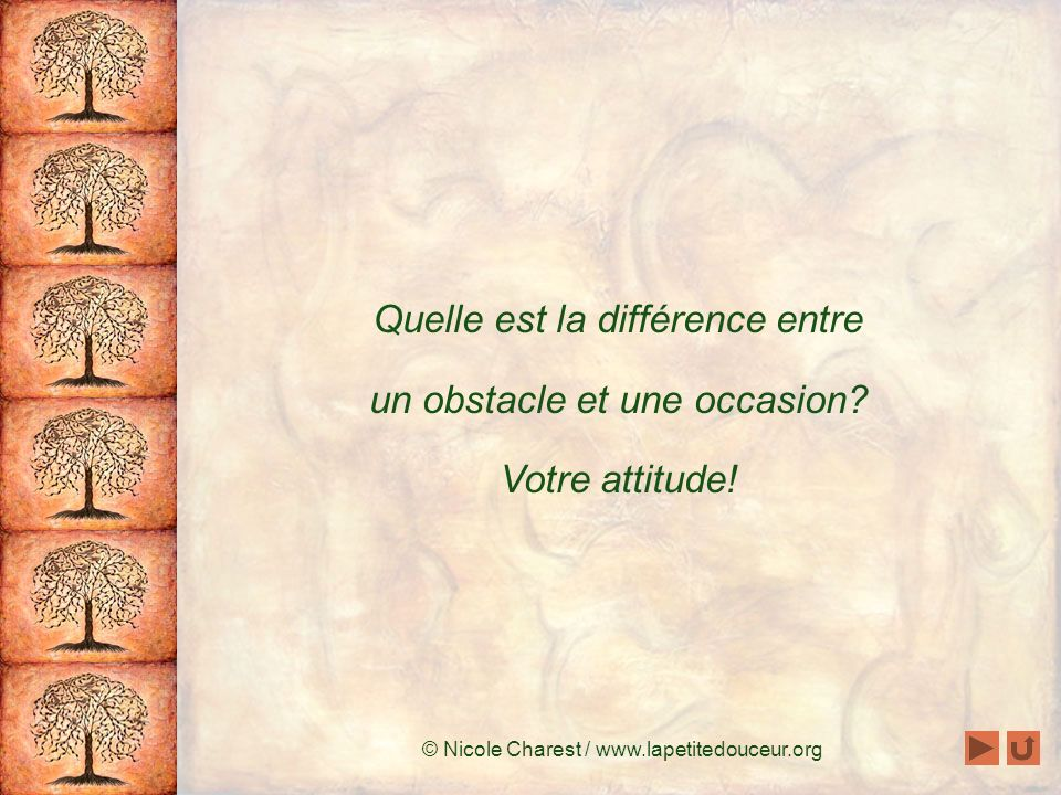 Quelle est la différence entre un obstacle et une occasion