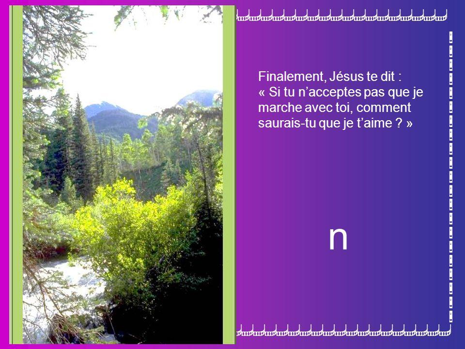 n Finalement, Jésus te dit : « Si tu n'acceptes pas que je