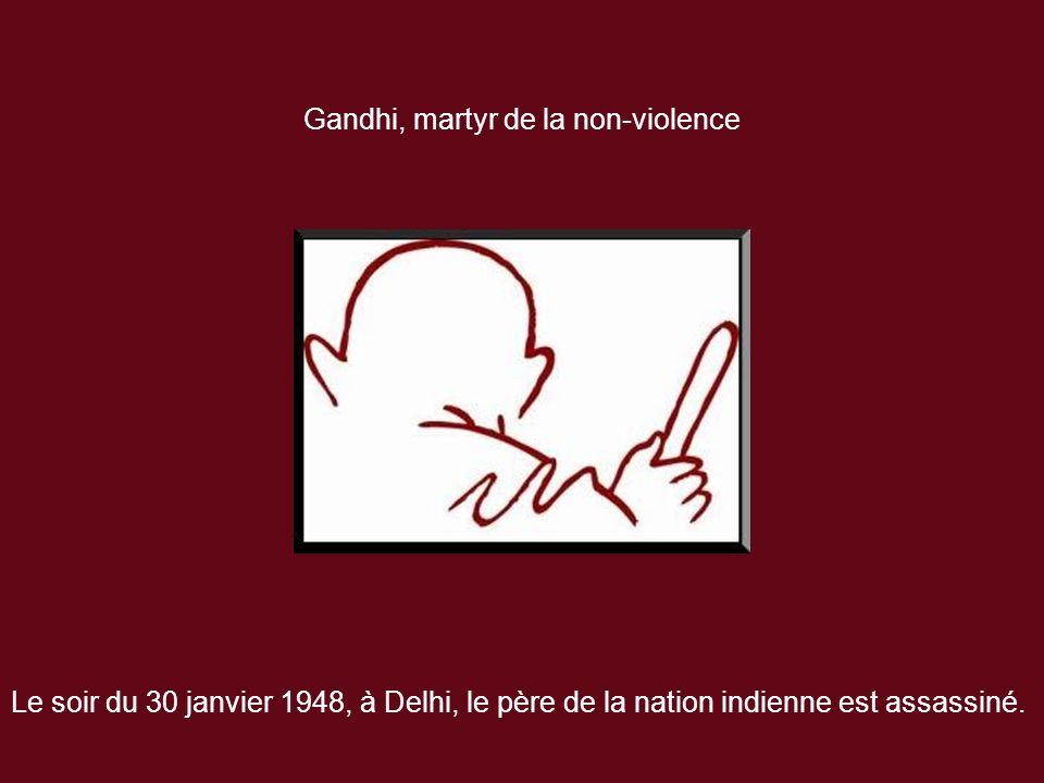 Gandhi, martyr de la non-violence