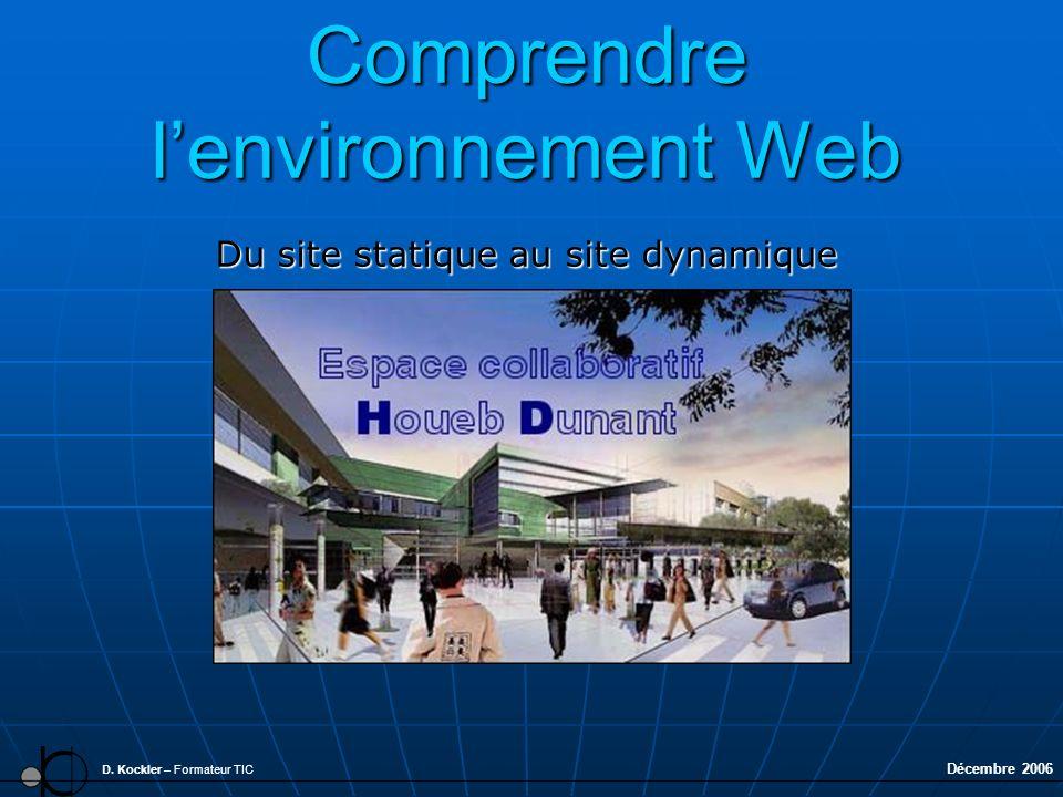 Comprendre l'environnement Web