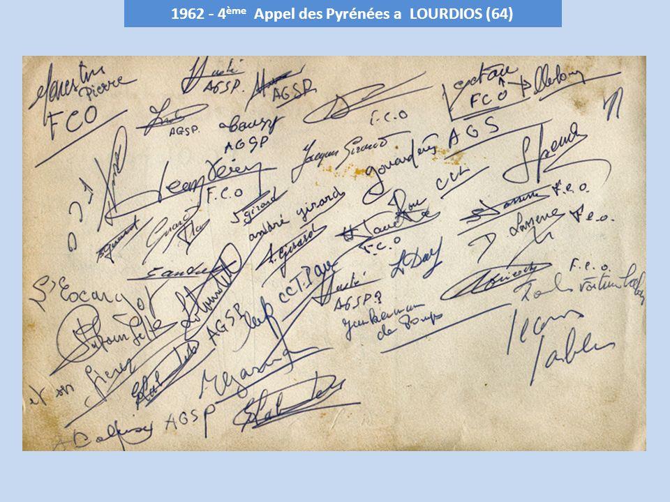 1962 - 4ème Appel des Pyrénées a LOURDIOS (64)